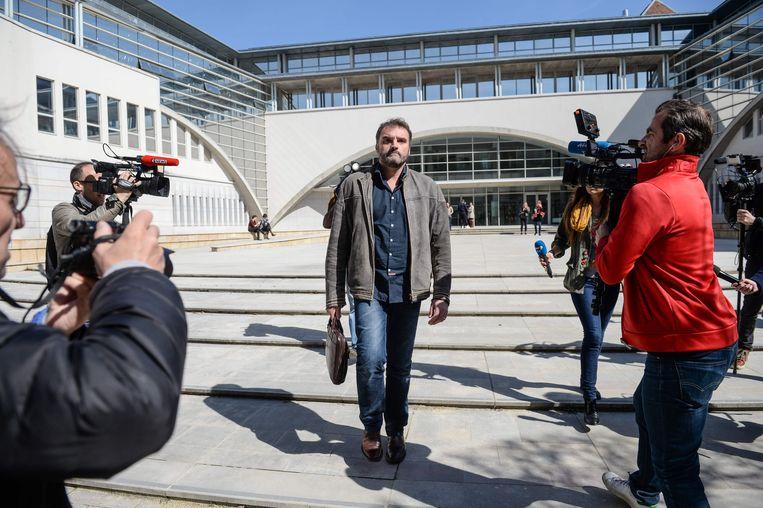 Arts Frederic Pechier in maart 2017 bij het verlaten van het gerechtsgebouw.