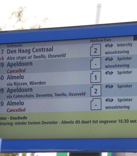 Minder treinen tussen Deventer en Almelo door grote wisselstoring