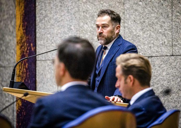 VVD-fractievoorzitter Klaas Dijkhoff in de Tweede Kamer.