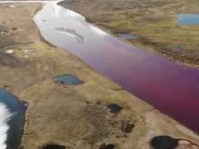 Une rivière de l'Arctique devient rouge après une catastrophe environnementale