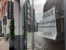 Huizen in lege winkels in centrum Spijkenisse stap dichterbij