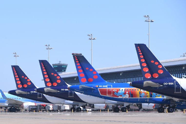 De vliegtuigen van Brussels Airlines blijven nog tot 15 juni aan de grond. Beeld Photo News