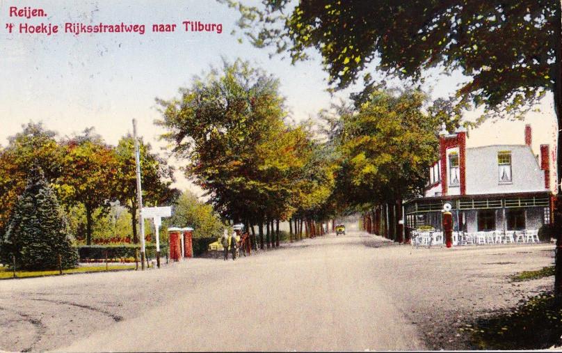 In Zeist werd in 1920 de eerste tankinstallatie in Nederland geplaatst. Slechts vier jaar later in 1924 kwam tegenover Café 't Hoekje (nu 't Vermaeck) in Rijen langs de weg tussen Breda en Tilburg het eerste tankstation.