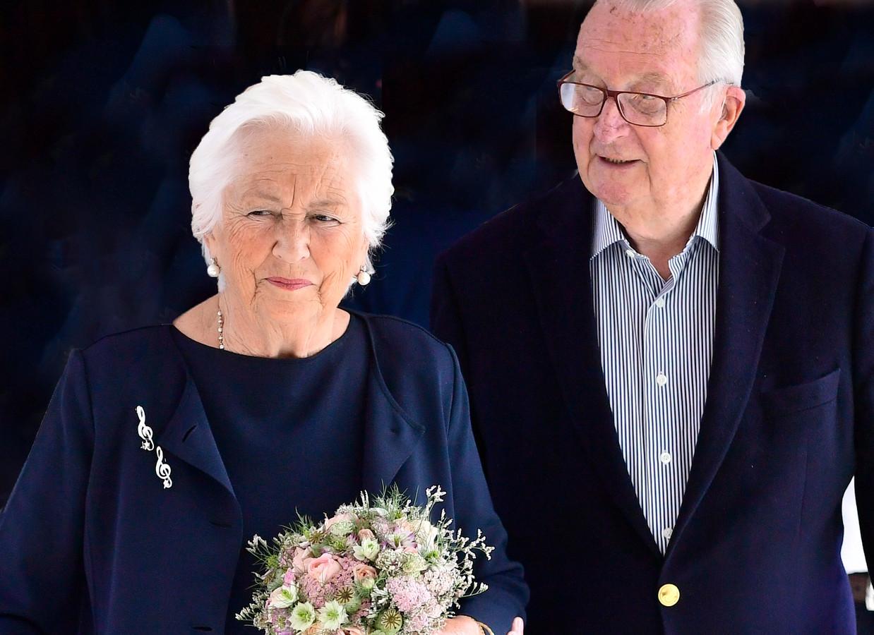Koningin Paola en koning Albert in juli 2020.