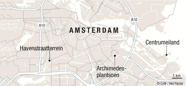 Op deze drie plekken wordt grond beschikbaar gesteld aan groepen huurders die zelf een huis willen bouwen. Beeld CvW / Het Parool