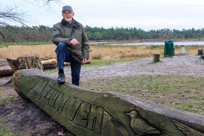 Ben Putman bij het Meeuwven,  vlakbij de Hut van Mie Pils.