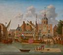 Op een schilderij van Ary van Wanum is rechts naast de Groothoofdspoort het bord te zien: 'wijn bier logement'.