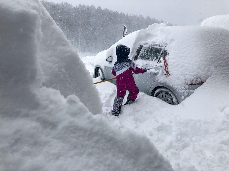 Ook regio Salburg ontsnapte niet aan het dikke sneeuwtapijt. Beeld AFP