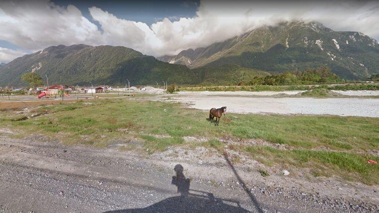 De Carretera Austral in Chili, de 1.250 kilometer lange gravelweg die noord en zuid verbindt. Beeld Google Maps.