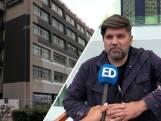 Markus spuit testbeeld van 400 vierkante meter op de muren van het Videolab in Eindhoven: 'Ik breng kleur naar de stad'