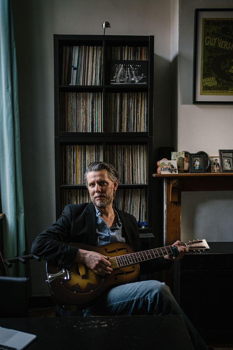 Singer-songwriter Guy Verlinde. Beeld Wouter Van Vooren