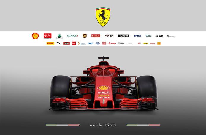 De nieuwe auto van Ferrari.