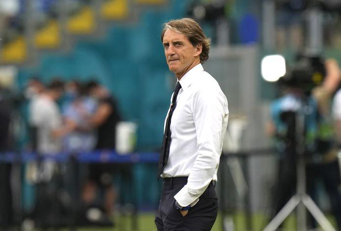 Bondscoach Roberto Mancini van Italië.