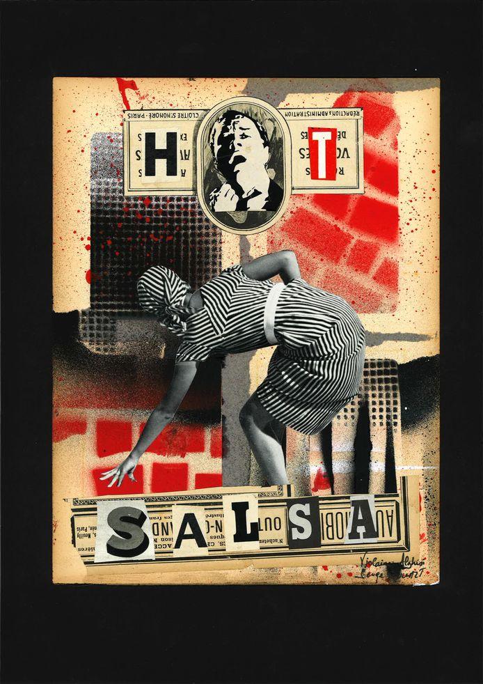 L'affiche du duo Trip on Colours pour son exposition au Rockerill à Marchienne-au-Pont (Charleroi).