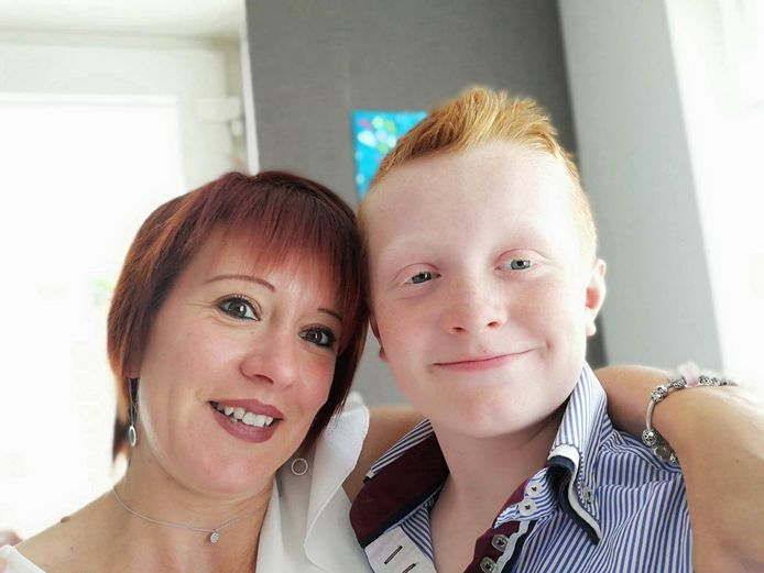 Mathéo et sa maman Jessy.