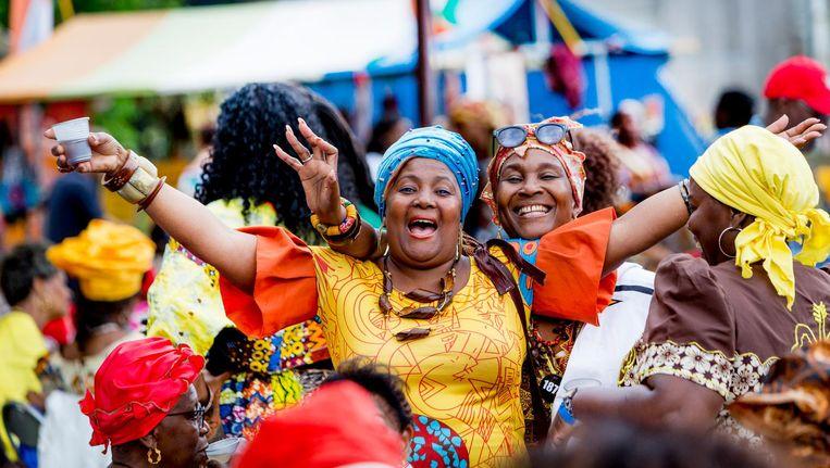 Uitzinnige vreugde op Keti Koti festival Beeld Jeroen Liebers