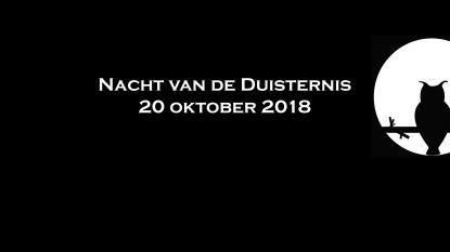 Straatverlichting uit in Oosterzele tijdens Nacht van de duisternis op 20 oktober