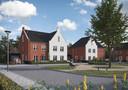 Tekeningen van het project D'n Bens in Langenboom waar 21 huizen moeten komen.