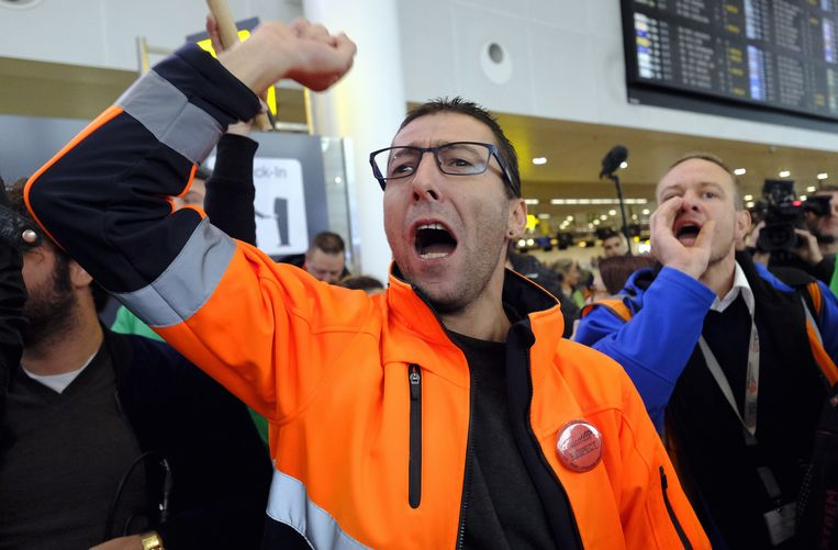 De actie van Aviapartner op de luchthaven had succes. Beeld BELGA