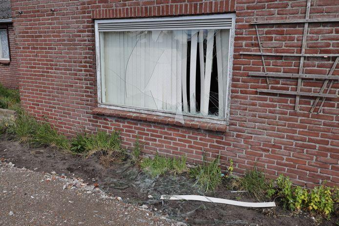 Vernielingen aan woning in Kaatsheuvel.