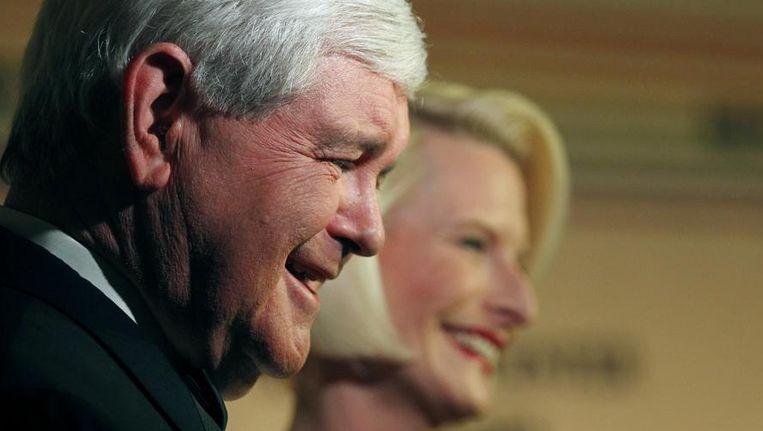 Newt Gingrich en Callista. Beeld REUTERS