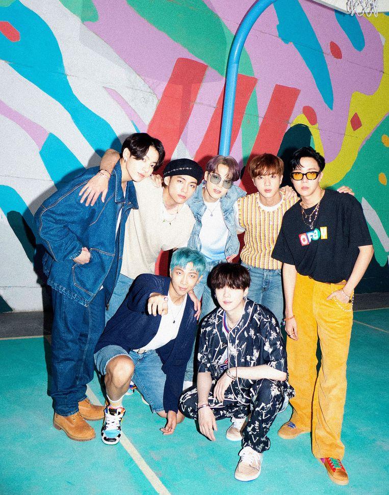 De popgroep BTS, die in 2013 zijn eerste single uitbracht, is uitgegroeid tot het toonbeeld van de Zuid-Koreaanse muziekindustrie.  Beeld RV BTS