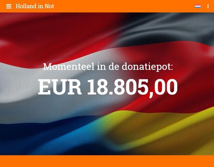 De stand van de donaties op vrijdagmiddag even voor 15.00 uur.