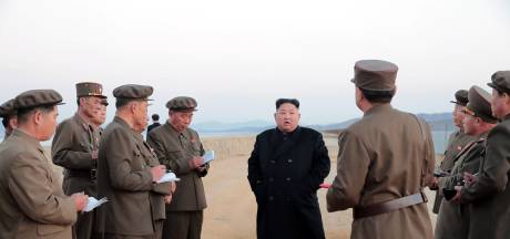 Kim Jong-un bij test geavanceerd wapen