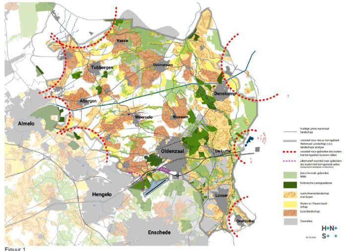 De plekken waar de gemeenten in Noordoost Twente van de provincie windmolens mogen bouwen. Of het er 18 worden, zoals aangeboden, is afwachten.