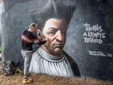 Rembrandt met een spuitbus: Donovan (49) maakte dit graffitiportret onder de IJsselbrug