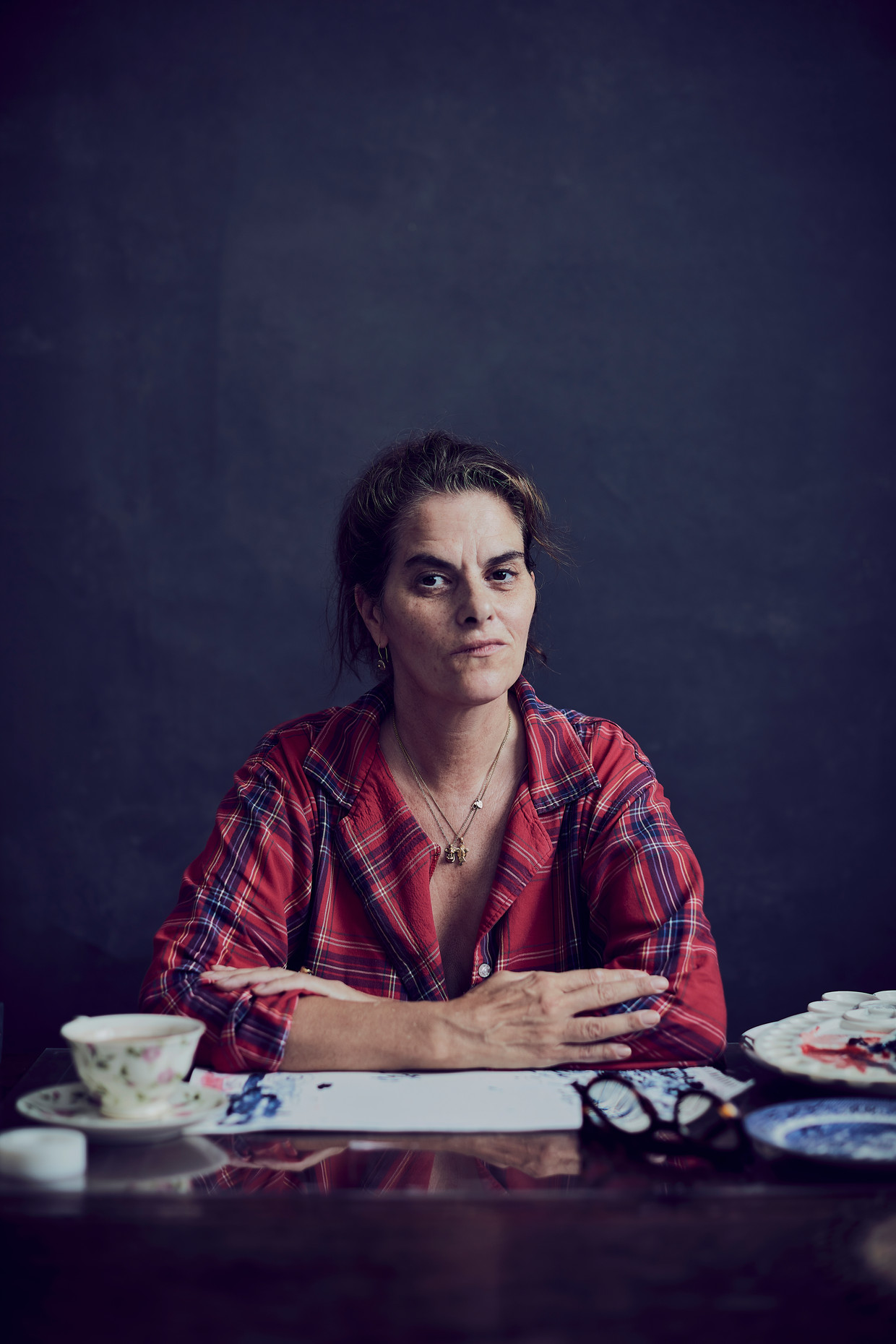 Tracey Emin.  Beeld Alun Callender / The Sunday Times Magazine