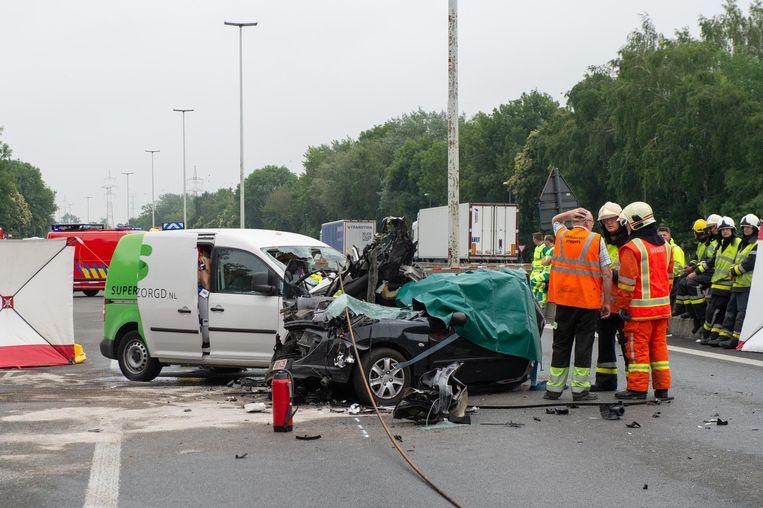 Het ongeval gebeurde tijdens de ochtendspits op de E34 ter hoogte van Oelegem.