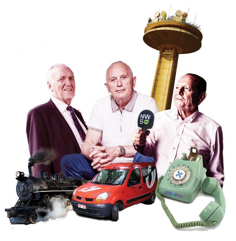 Jo Cornu (voormalige CEO van NMBS), Johnny Thijs (ex-Bpost-baas) en Tony Mary  (vroegere afgevaardigd bestuurder van de VRT en werkte ook mee aan de transformatie van de RTT tot Belgacom).  Beeld