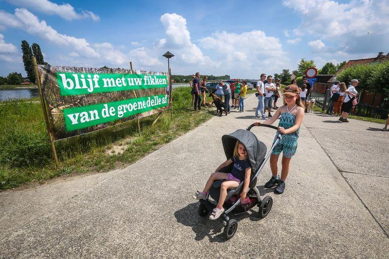 De realisatie van een industriezone in de Groene Delle stoot op massaal protest. Beeld Bart Borgerhoff