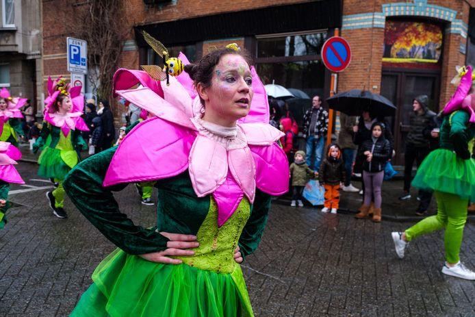 De regenachtige editie van Mortsel carnaval in 2018.