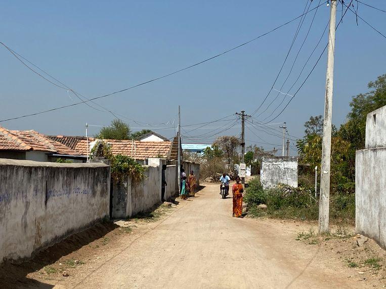 Het dorp Thippaipalli in de Zuid-Indiase deelstaat Telangana. Beeld Aletta Andre