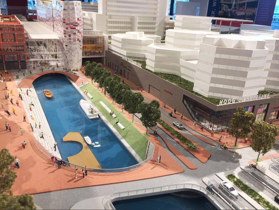 Een maquette van het ontwerp heeft een paar dagen op het Stadskantoor gestaan. Volgens Klépierre geeft de maquette niet helemaal goed weer hoe de situatie er uiteindelijk uit gaat zien.