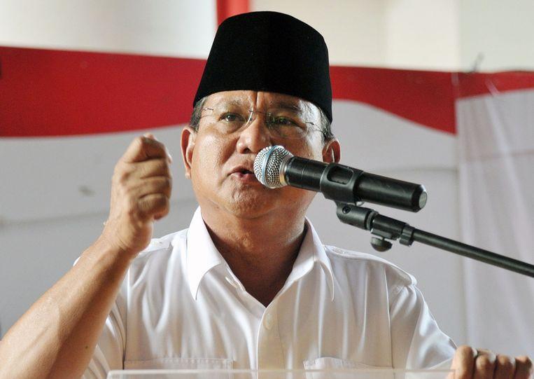 Subianto Prabowo Beeld belga