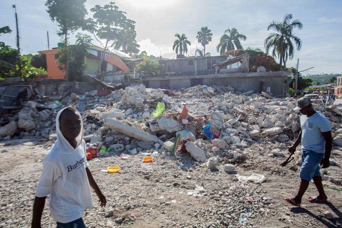 De schade in Les Cayes
