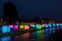 Lichtkunstwerk in de Speelhuislaan