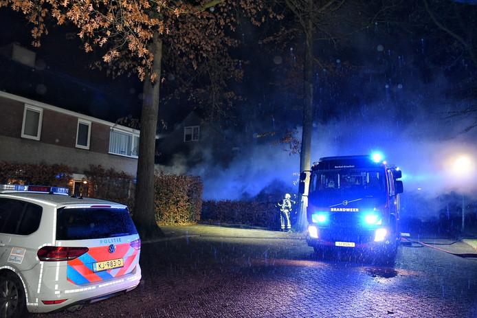Brand in garagebox in Oisterwijk