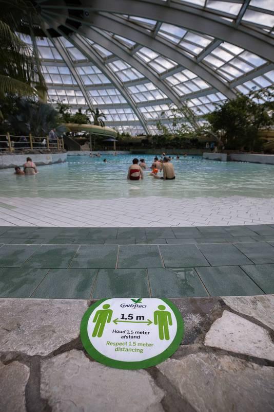 Het zwembad van Center Parcs de 'Kempervennen'.