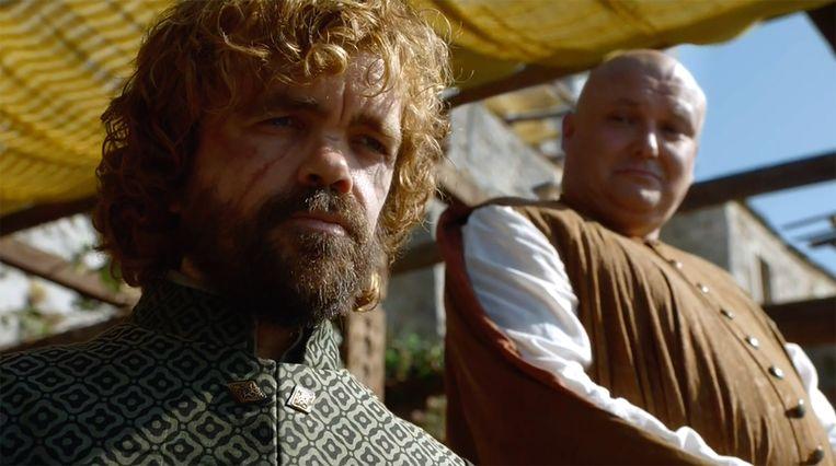 Tyrion en Varys zijn weer herenigd. Beeld HBO