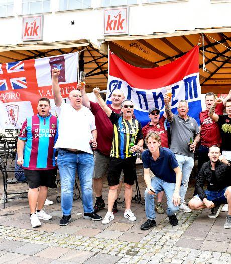 Vitesse-supporters in Maribor: Voor de club ga je honderd keer dood en sta je ook honderd keer weer op