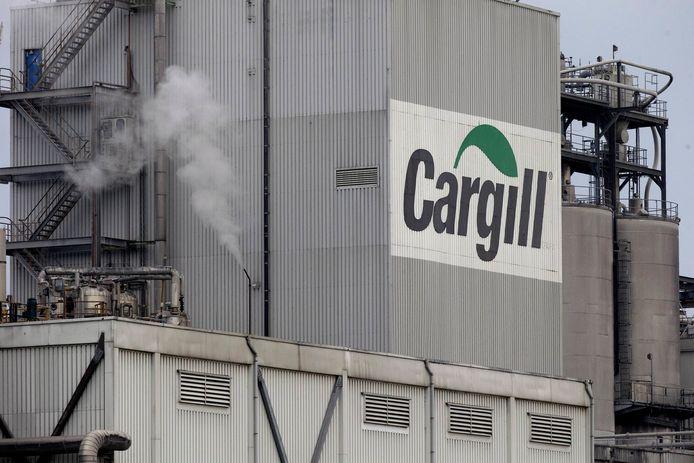 Het personeel van Cargill in Sas van Gent staakt