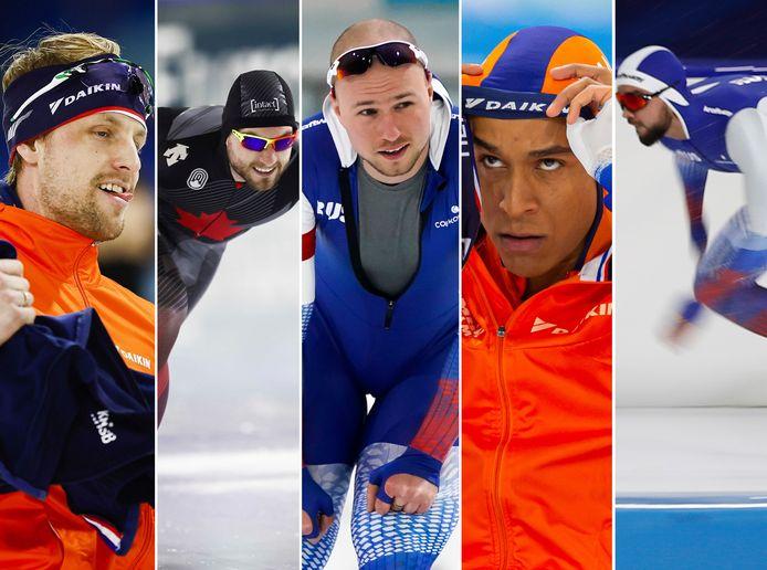Ronald Mulder, Laurent Dubreuil, Pavel Koelizjnikov, Dai Dai N'Tab en Artem Arefjev.
