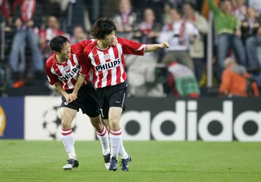 Young-pyo Lee en Ji-Sung Park.