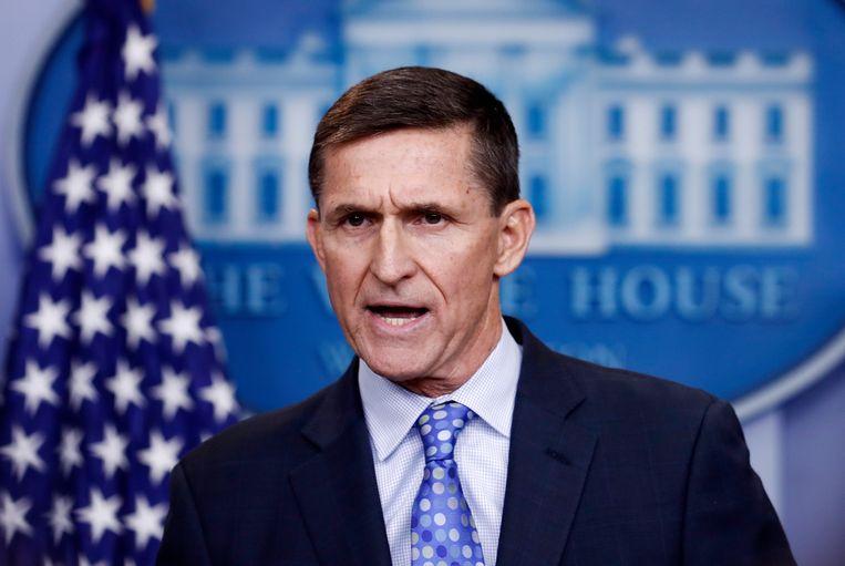 Voormalig nationaal veiligheidsadviseur Michael Flynn. Beeld AP