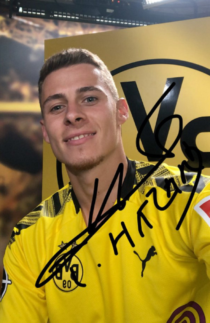 Thorgan Hazard s'est engagé pour cinq ans avec le Borussia Dortmund.