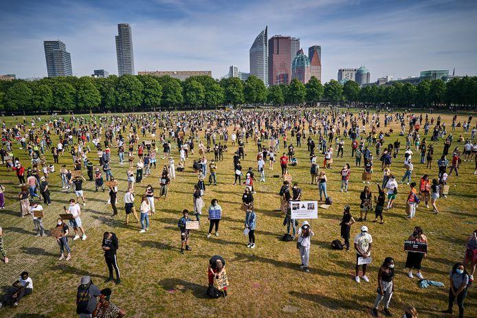 Archiefbeeld ter illustratie: de demonstratie van Black Lives Matter op 2 juni 2020 op het Malieveld in Den Haag.